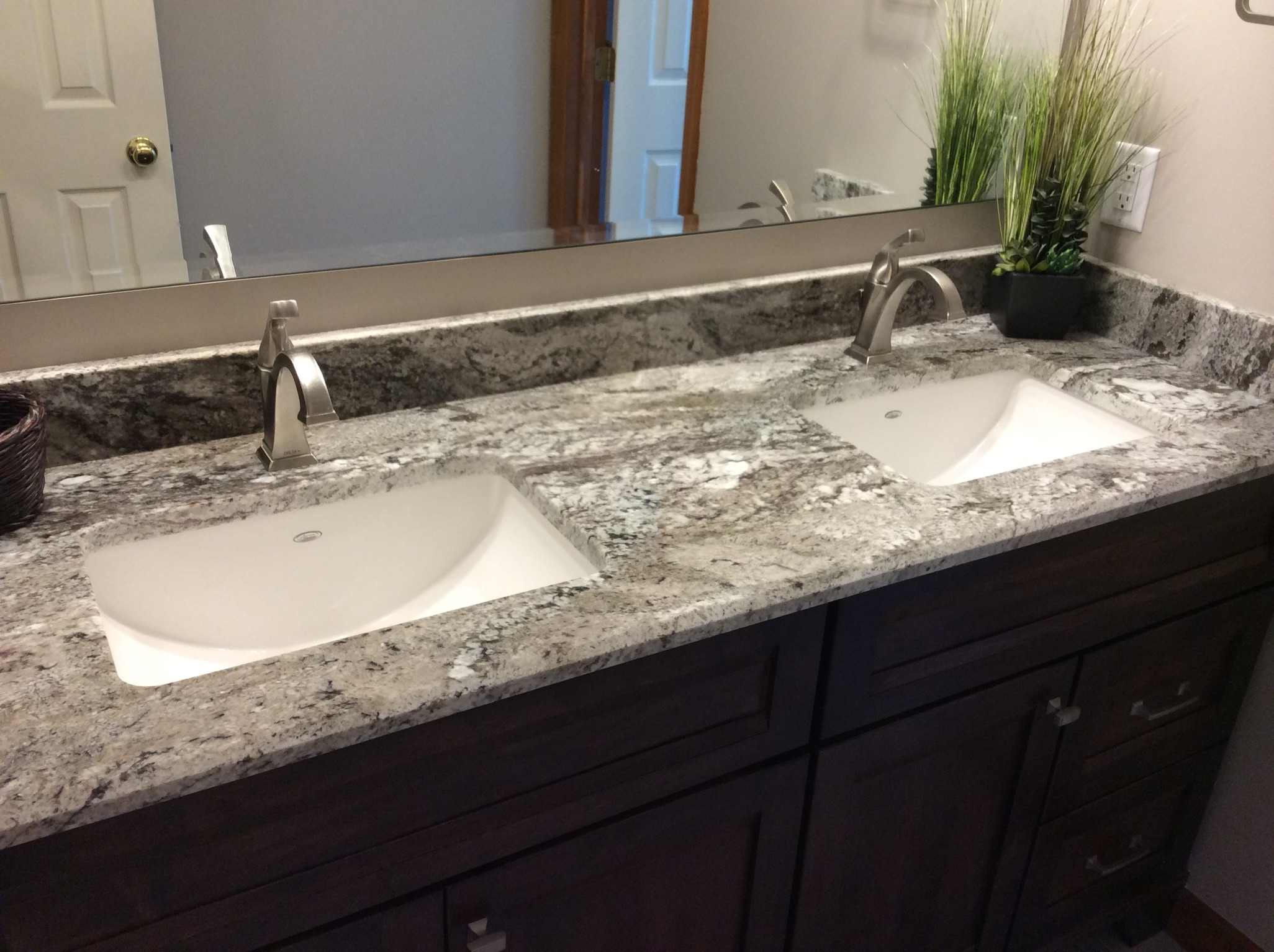 Countertops nelson kitchen bath mars pa pittsburgh for Man made bathroom countertops