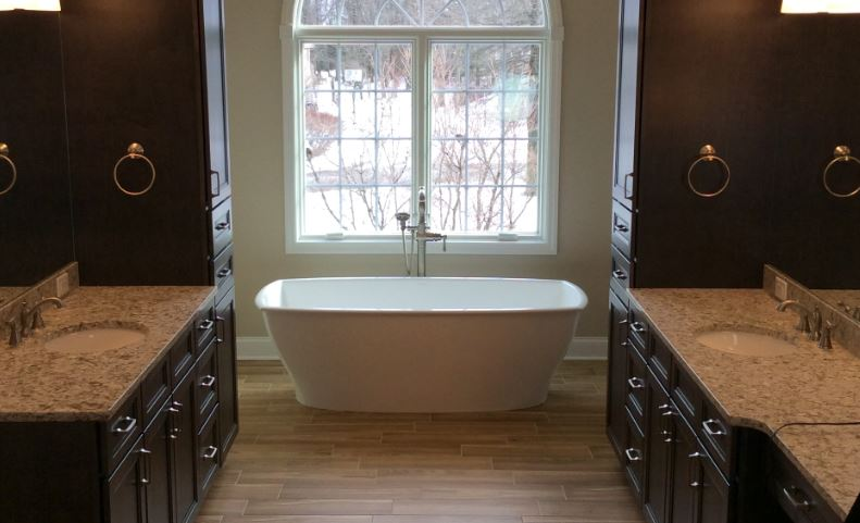 Before After Cranberry Twp Pa Grand Master Bathroom Remodel